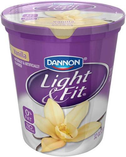 Light and Fit Quarts Vanilla Greek Nonfat Yogurt, 32 Ounce -- 6 per case.