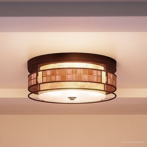(Luxury Art Deco Flush Mount Ceiling Light, Small Size: 6
