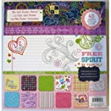 DCWV Premium Stacks The Girl Power with Glitter, 48 Sheets, 12 x 12 inches