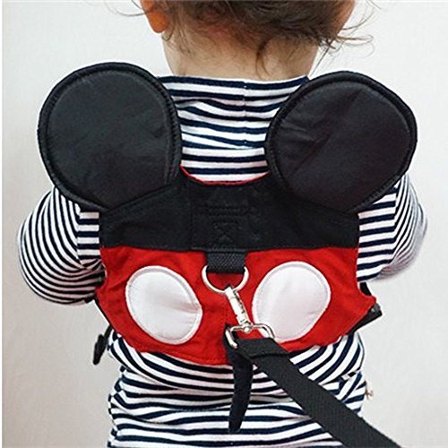 Toddler Anti-lost Walking Safety Harness with Leash Cute Baby Strap Backpack for 1-3 Years Boys and Girls to Disneyland, Zoo or Mall