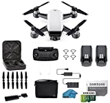 DJI Spark Intelligent Portable Mini Drone Quadcopter, Fly More Combo, with MUST HAVE ACCESSORIES, 2 Batteries, 32 GB SD Card (SPARK 2 BATTERY BUNDLE)