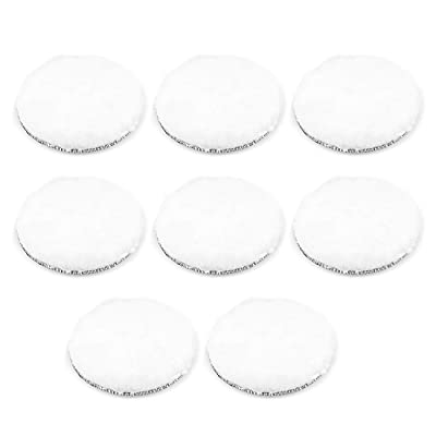 uxcell 6-Inch Wool Polishing Pad Hook and Loop Buffing Wheel for Polisher and Buffer 8 Pcs: Home Improvement