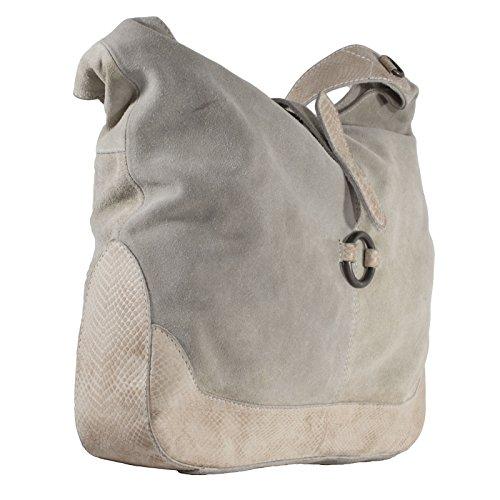 gris è Bolso tela de LEI para Piel COZY mujer beige de pqWv6