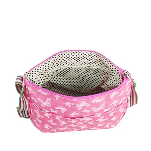 BUTTERFLY MULTI BAG Pink WOMEN BAG MESSENGER LADIES GLITTER CROSSBODY PURPOSE tq6aEZ