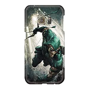 Best Hard Phone Cases For Samsung Galaxy S6 (vwa1100Edfk) Allow Personal Design Attractive Green Arrow I4 Skin
