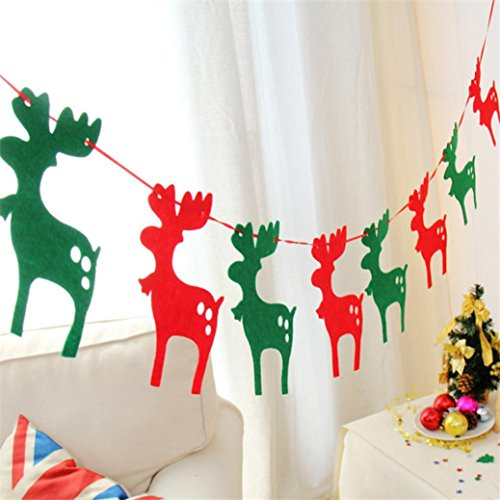 Iusun Fashion ! Christmas Eight Flag Ornaments Christmas Tree Home Party Garden Decoration (B)