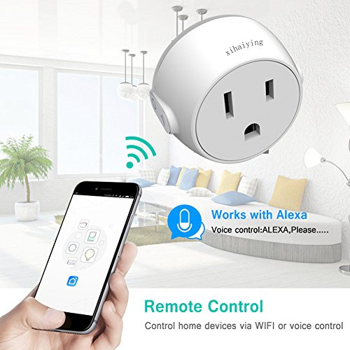 Durable Smart Plug WiFi Socket Outlet Remote Control 10 Amp Smart Life Adapter for Home Improvement, Works with Alexa, Google Home(FCC,ROHS,CE,Listed) by Jimtye (Image #1)