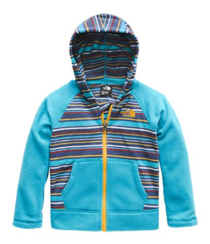 The North Face Toddler Glacier Full Zip Hoodie, Caribbean Sea Multi Thin Stripe Print, 3T