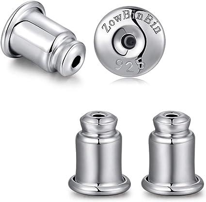Amazon.com: Earring Backs Locking Earring Backs Sterling Silver Hypoallergenic Secure Earring Backs, Stud Earring Backs Safety Posts Earring Backs White Gold Earring Backs Replacement Earring Backs Safety Backs