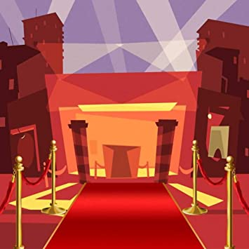 GladsBuy Pillar Red Carpet 8 x 8 Computer Printed Photography Backdrop Stage Carpet Theme Custom Wedding Children Birthday Fashionshow Party Background AUT-299