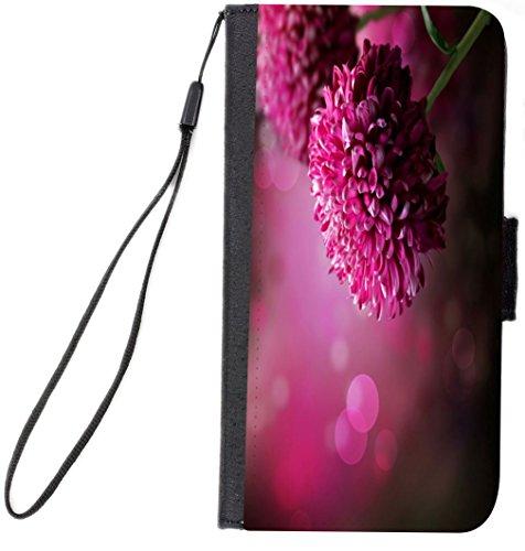 Dahlia Black Case (Rikki Knight Purple Dahlia Autumn Flower Design, Cell Phone Case for Samsung Galaxy S6 - Black)