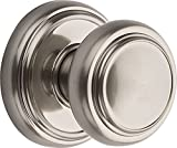 Baldwin Prestige Alcott Hall/Closet Knob in Satin Nickel