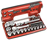 Facom 1/2in Std 6 Pt Socket Set 21pcs FCMSLDBOX1