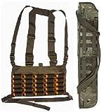 Ultimate Arms Gear Shotgun Package: OD Olive Drab Green Chest Rig 25 Round 12 & 20 GA Gauge Ammo Holder Vest + 29