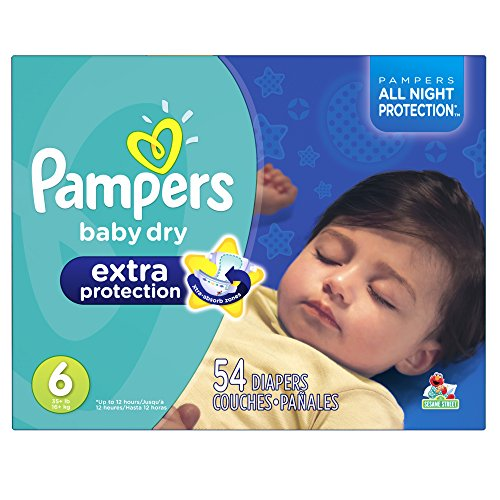 Pampers Baby Dry Extra Protection Diapers Size 6 54 Count