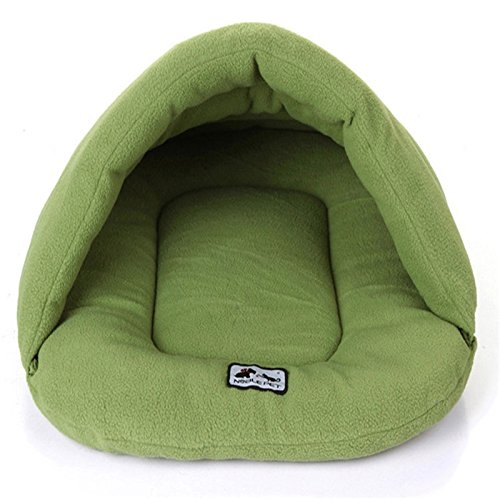 Green Wenzhihua Warm pet nest Warm And Kennel Pet Nest, Four colors soft (color   bluee)