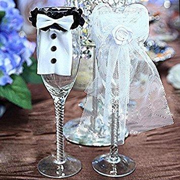da tavolo Hangqiao decorazioni per calici da vino per matrimoni