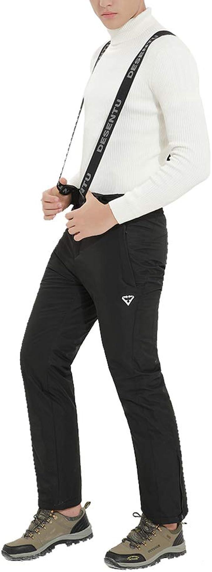Maifly Herren Skihose Snowboardhose Schneehose mit Verstellbarer Bund Abnehmbare Tr/äger Ideale Skibekleidung zum Skifahren