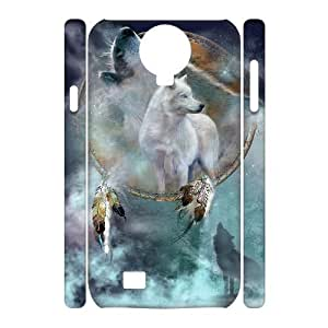 C-EUR Cell phone case Wolf Dream Catcher Hard 3D Case For Samsung Galaxy S4 i9500