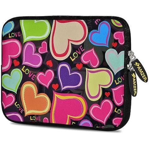 Amzer 7.75-Inch Designer Neoprene Sleeve Case Cover Pouch for Tablet, eBook and Netbook - Heart Gather (Kindle Case Designer)