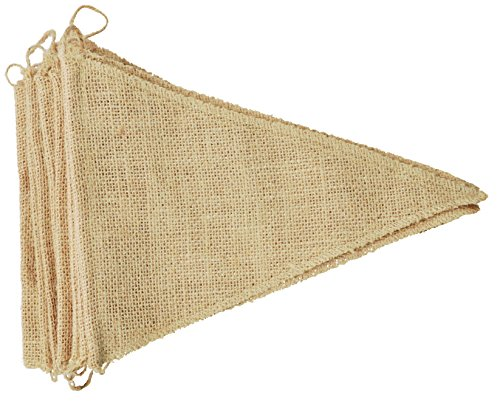 Firefly Craft 14 Foot DIY Burlap Banner with 20 Triangular Pennant or Rectangular Notch Flags (8 X 10 Inches Each Flag)