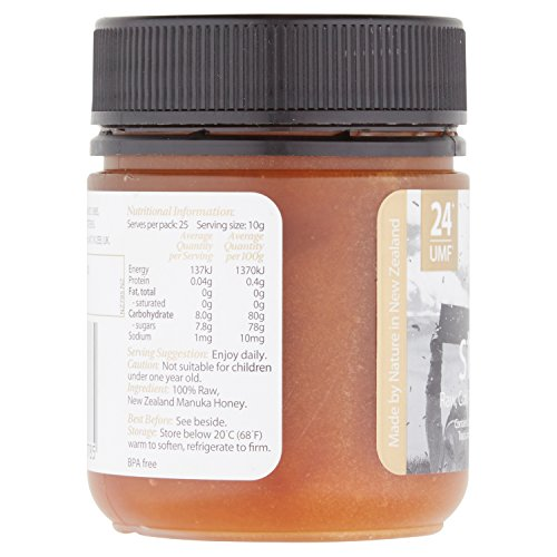 Steens UMF 24 Manuka Honey (MGO 1122) 8.8 Ounce jar with box | Raw Unpasteurized Honey From New Zealand | Traceability Code on Each Label by Steens (Image #1)