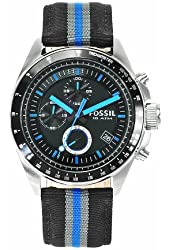 Fossil Men's CH2689 Decker Cloth Strap Stainless Steel Dial Watch