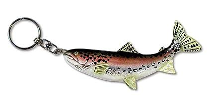 Amazon.com  Hand Painted Rainbow Trout Fish Key Chain  Home   Kitchen e6ec70999