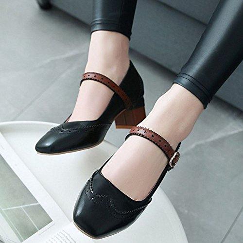 Black Bajo Zapatos Tacon Zanpa Mujer Clasico wH4PnqvS8