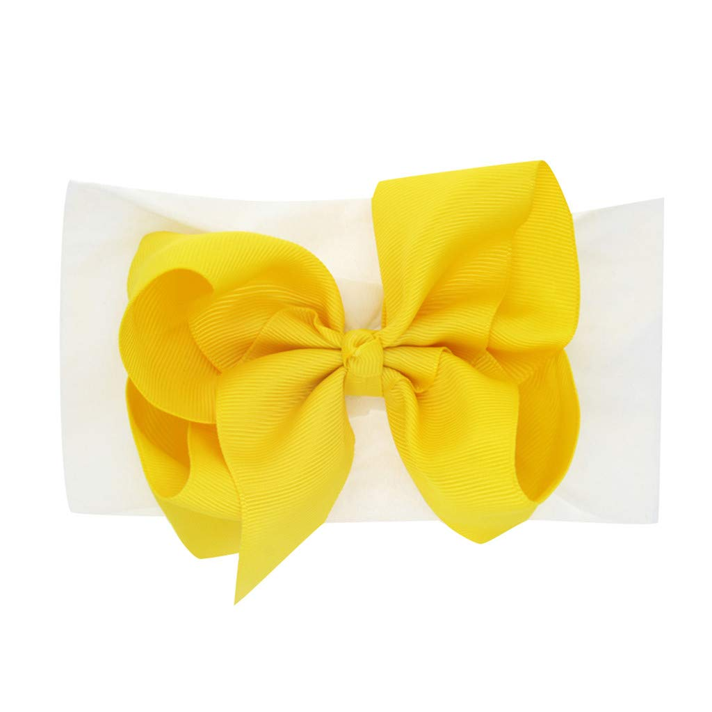 FDSD Women Maternity Clothes Newborn Girls Hair Accessories Little Girls Ribbon Headbands Solid Bow Knotted Turban Headwear (H)