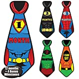 Newborn Baby Monthly Superhero Stickers - Great Shower Registry Gift or Scrapbook Photo Keepsake