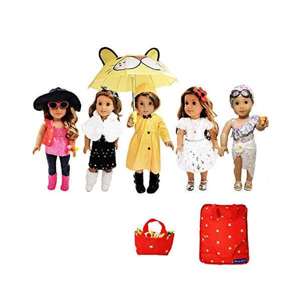 Weardoll 18inch Doll Clothes and Accessories – 33 Items, 18 inch Doll Accessories...