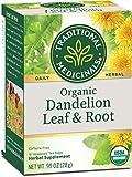 Traditional Medicinals Organic Dandelion Leaf & Root Herbal Leaf Tea, 16 Tea Bags (Pack of 6)