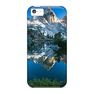 MMZ DIY PHONE CASEFashionable Style Case Cover Skin For iphone 4/4s- Mountain Reflecting In The Lake 17965