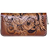 OLG.YAT Vegetable tanned leather Retro Genuine Leather Men's Wallets WLSL