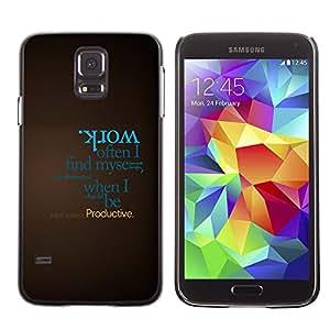 Escritura En Browm - Metal de aluminio y de plástico duro Caja del teléfono - Negro - Samsung Galaxy S5