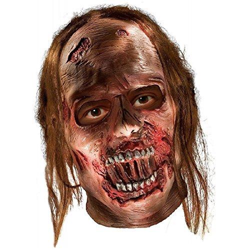 Zombie Mask Adult Scary Walking Dead Costume Halloween Fancy Dress