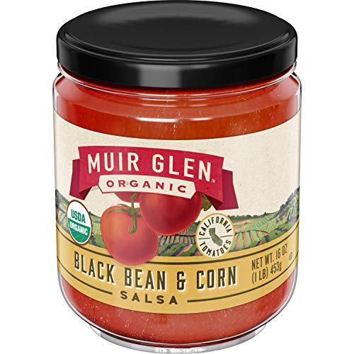 Muir Glen Organic Salsa Black Bean & Corn, 16 oz (Best Black Bean Salsa)