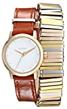 Nixon Women's A4031749 Kenzi Metal and Leather-Strap Wrap Watch