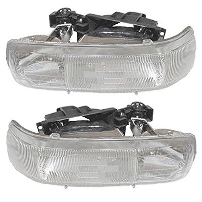NEW Chevy Silverado Truck Headlight Headlamp Head Light Left Right Side SET PAIR