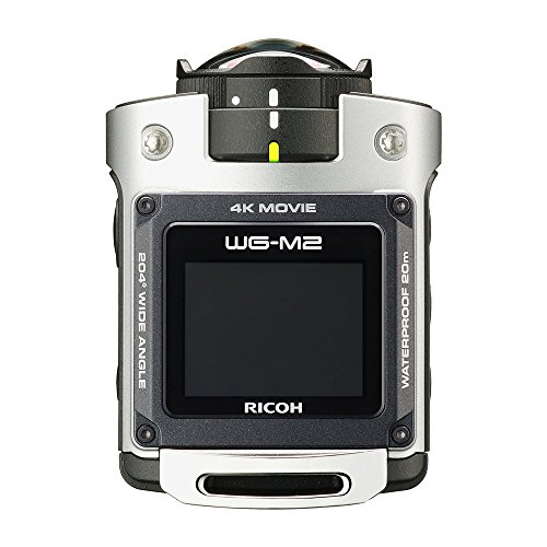 RICOH waterproof action camera WG-M2 4K video super-wide-angle 204 degrees housing unnecessary waterproof 20m impact 2m 03813 (Silver) (International Model)