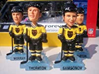 Boston Bruins NHL 4 PLAYER MINI BOBBLE HEAD SET Thornton Samsanov Murray Rolston
