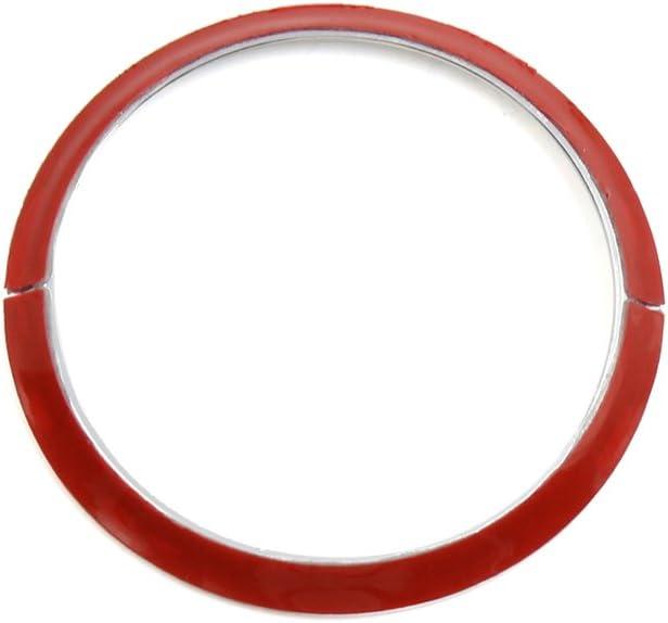 sourcing map 67mm Silber Ton Lenk Rad Dekorativer Ring Kreis f/ür Benz C B Class GLC DE de
