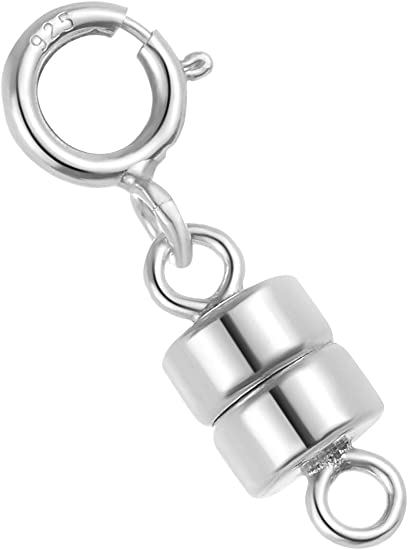 Magnetic Extender Silver Tone Round Easy Clasp Necklace or Bracelet 1.25 31.75 mm