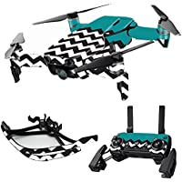 MightySkins Skin for DJI Mavic Air Drone - Teal Chevron | Max Combo Protective, Durable, and Unique Vinyl Decal wrap cover | Easy To Apply, Remove, and Change Styles | Made in the USA