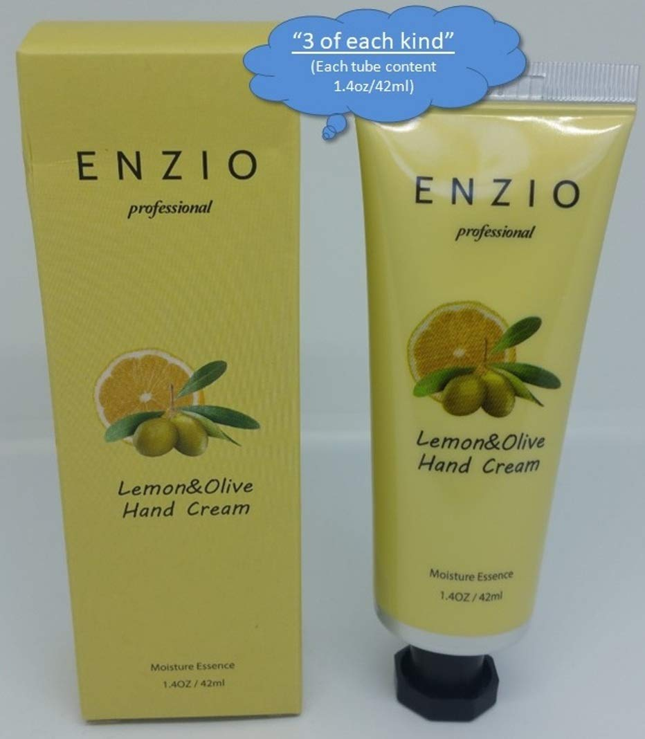 """ENZIO Professional Grade Shea Butter Based Hand Cream Lotion Gift Set """"Party Pack"""" (7 variety x 3 = 21 tubes total) (Free of Parabens, Benzophenone, Talc, and Color Additives) by ENZIO (Image #8)"""