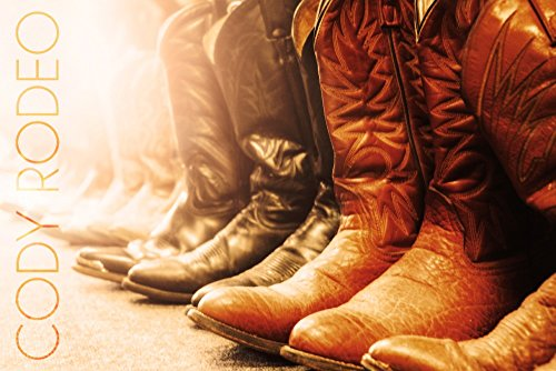 Wyoming - Codeo Rodeo - Cowboy Boots (36x54 Giclee Gallery Print, Wall Decor Travel Poster) ()