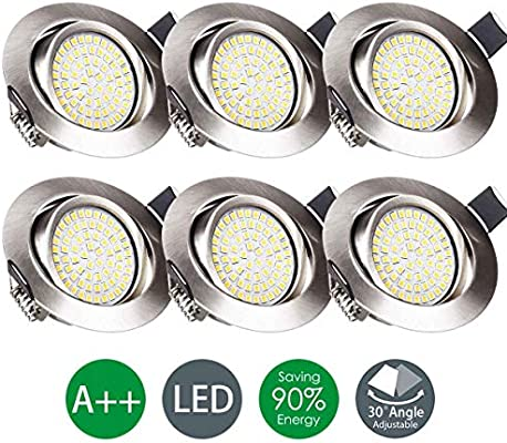 Wenscha 6 Pack LED Recessed Ceiling Lights, 3.5W LED Integrated ...