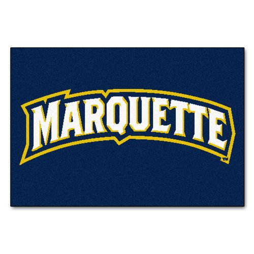 (FANMATS NCAA Marquette University Golden Eagles Nylon Face Starter Rug )