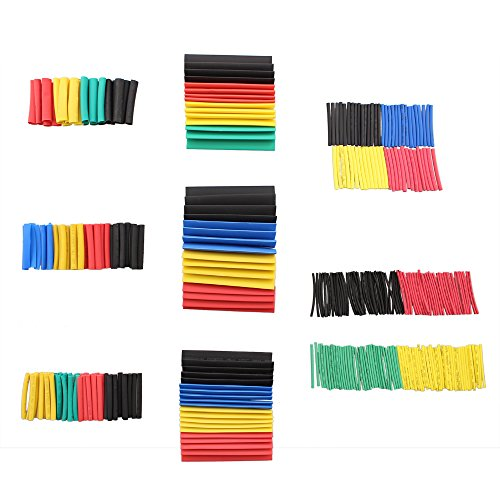328 PCS Heat Shrink Tubing Set, SIM&NAT Ratio 2:1 Electrical Insulated Sleeving Assorted Heat Shrink Wrap Wire Cable Tubing (8 Sizes / 5 Colors)